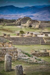 Zona Arqueologica de Monte Alban en Oaxaca, Mexico